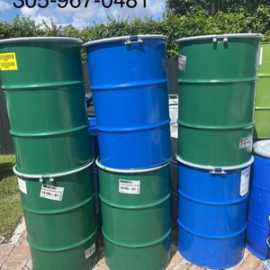 55 gallons metal drums open head with rim lock , drum , barrels , barrel , barriles , barril for Sale in Miami, FL