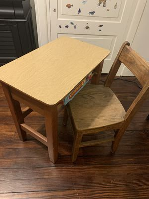 Antique small child's desk with chair for Sale in Vandergrift, PA