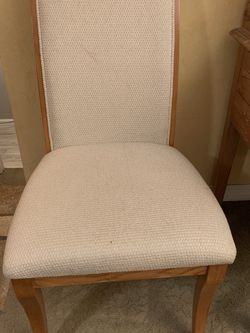 Two Osk & Cloth dining Chairs for Sale in Newcastle,  WA