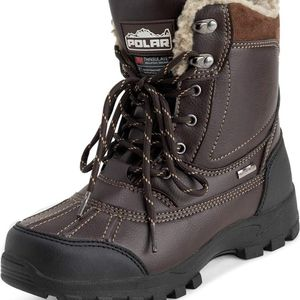 POLAR Mens Thinsulate Fully Lined Waterproof Deep Tread Durable Rubber Shell Thermal Winter Rain Snow Boots Size 12 for Sale in Sloan, NV