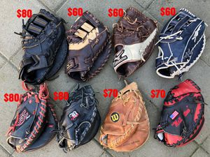 Baseball gloves Rawlings Easton mizuno a2000 heart of the hide bat for Sale in Culver City, CA