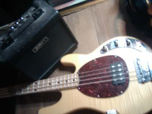 OIP bass guitar with amp for Sale in Henderson, NV