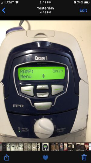 Resmed S8 Escape II CPAP machine w/ H4i warm humidifier - includes Bag & manuals for Sale in Rochester, NY