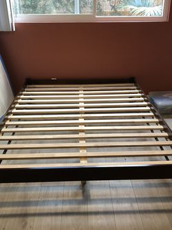 Walnut Queen-Sized Bed Frame for Sale in Los Angeles,  CA