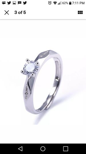 Cute Anniversary for Women Ring 925 Silver Rings Round Cut White Sapphire Size 6 for Sale in Akron, OH