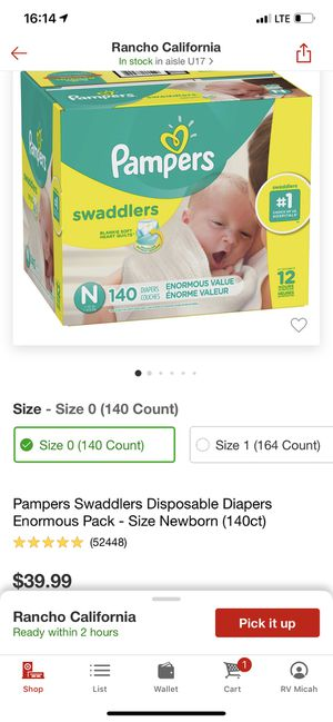 Newborn diapers for Sale in Murrieta, CA
