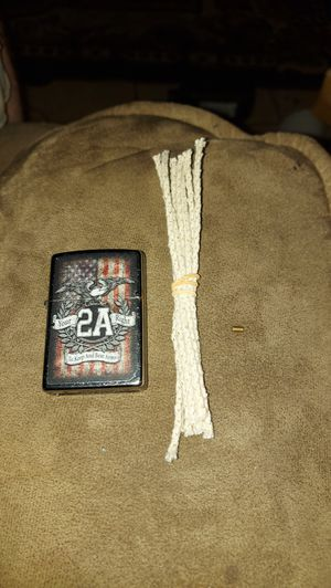 Brand new never used silver right to bear arms Zippo,10 brand new ropes and 1 brand new flint for Sale in Haines City, FL