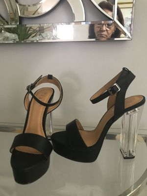 New Black and clear Sandals Heels new in box Size 8 for Sale in Miami, FL