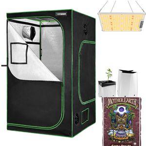 6 Plants Grow Kit, Grow Tent 4x4 ft LED Grow Light 1000W Sunlike Spectrum, Grow Bags, Plants Soil for Sale in Warren, MI