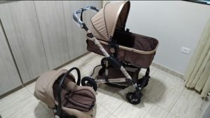 Multifunctional 3 in 1 Baby Stroller High Landscape Stroller Folding Carriage Gold Baby Stroller Newborn Stroller for Sale in Browns Summit, NC