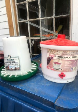 Chicken feeder and heated drinker for Sale in Tyngsborough, MA