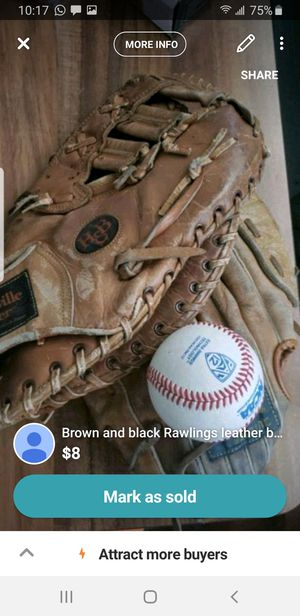 2 baseball gloves and a ball for Sale in Oakland, CA