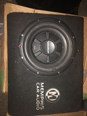 """Rockford Fosgate R/2 12"""" w//custom box... don't use anymore for Sale in San Benito, TX"""