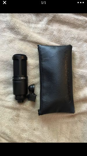 AT2020 XLR Microphone, w/ Pop Filter & XLR Cable for Sale in Pittsburg, CA