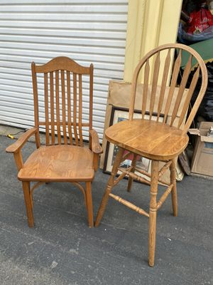 Vintage wooden chairs for Sale in Modesto, CA