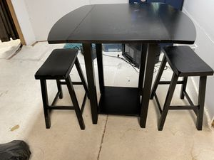 Pub height table and stools black- wood for Sale in Westminster, CO