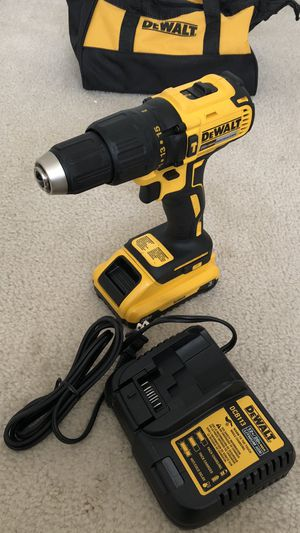 DeWalt 20-Volt Brushless Hammer Drill with Battery, Charger and Tool Bag for Sale in Hacienda Heights, CA