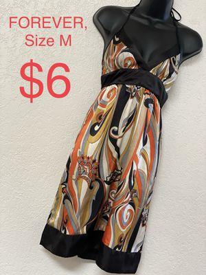 FOREVER, Multicolored Halter Dress, Size M for Sale in Phoenix, AZ