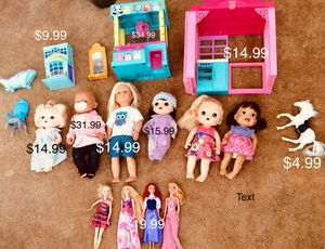 Huge Baby Alive and Barbie Toys Sale for Sale in Beaumont, CA