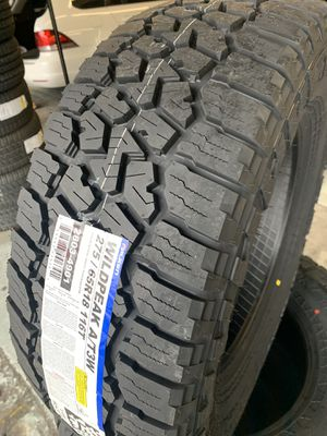 275/65/18 set of Falken AT tires installed for Sale in Rancho Cucamonga, CA