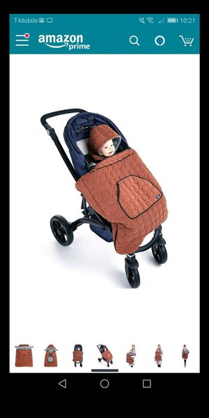 Universal stroller footmuff- black- new for Sale in Naperville, IL