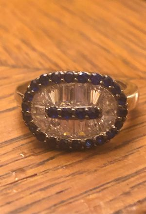 Stunning Sapphire and Topaz Sterling Silver Ring Size 7 for Sale in Portland, OR