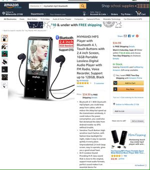 MYMAHDI MP3 with BLUETOOTH for Sale in Millersville, MD