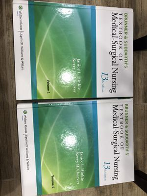 Brunner and suddarth's textbook of medical-surgical nursing 13th edition volume 1&2 for Sale in Silver Spring, MD