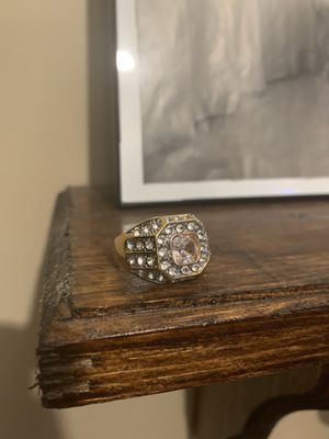 Crystal and Golden Ring for Sale in Oakdale, NY