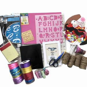 Lot of Scrapbook Supplies Stencils Twine Jute Ribbon Scrapbooking Variety Crafts Art for Sale in Florence, KY