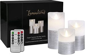 Luminicious flameless candles with remote controls for Sale in Bellflower, CA