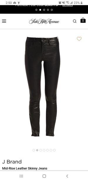 Authentic J Brand Midrise Leather Pants for Sale in Phoenix, AZ