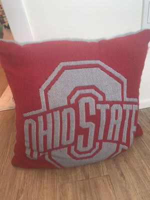 Ohio State Scarlet and Gray Pillow for Sale in Columbus, OH