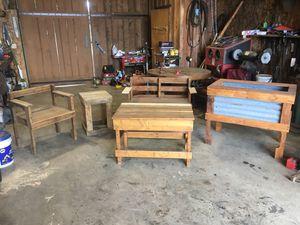 Rustic outdoor furniture for Sale in Estacada, OR