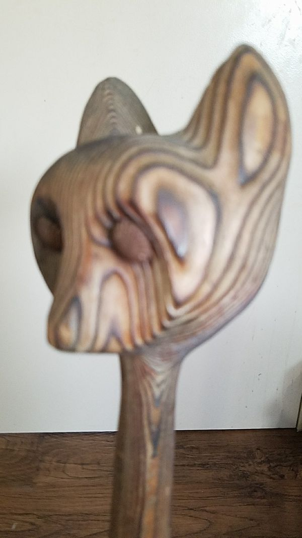 Wooden cat carving for Sale in Longview, WA - OfferUp