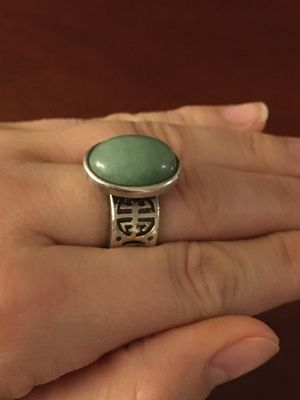 Oval Jade Silver Ring for Sale in Milwaukie, OR