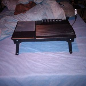 Work desk laptop Stand Table With Light Storage Foldable legs for Sale in Las Vegas, NV