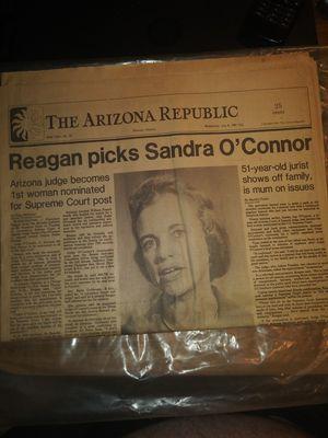 Sandra O'Connor newspaper. for Sale in Phoenix, AZ