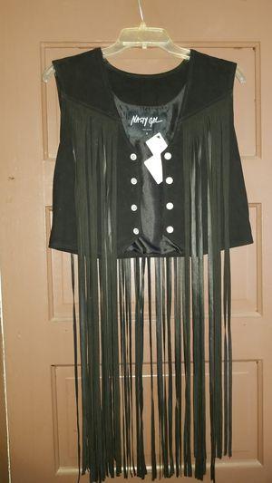 leather fringe motorcycle vest for Sale in Newport, MI