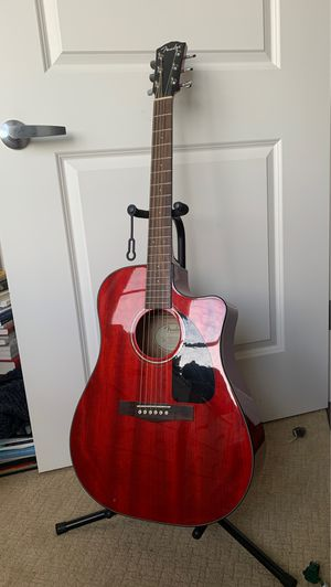 Cherry Red Acoustic-Electric Fender Guitar for Sale in Portland, OR