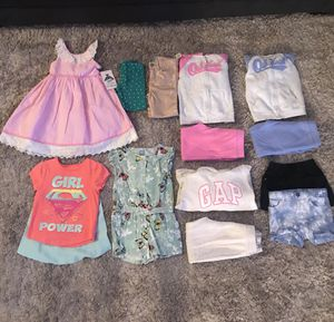 NEW WITH TAGS AND LIKE NEW‼️ 5T TODDLER GIRL CLOTHES LOT - BABY GAP, OSHKOSH, RARE EDITIONS AND MORE for Sale in Houston, TX