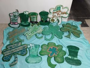 St Patty's wooden ornaments for Sale in Tucson, AZ