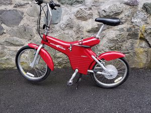 Limited Edition LEE IACOCCA Mini Folding Electric Bike. Very Rare. Works great!— for Sale in Brookline, MA