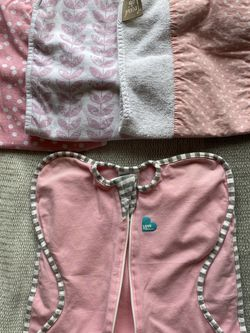 Burp Cloths & Love Me Swaddle Size Small for Sale in Woodinville,  WA