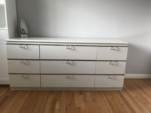 Sturdy solid wood white dresser for Sale in Fairfax, VA