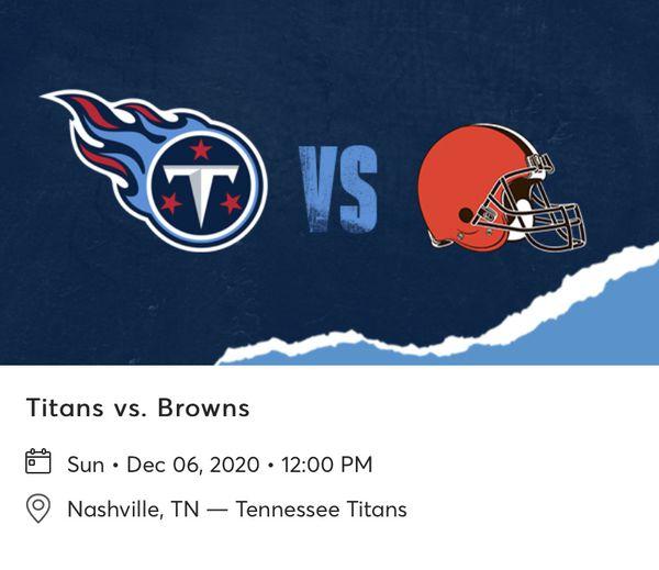 Titans Vs Browns