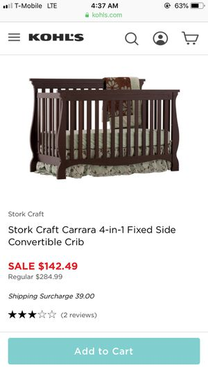 Stork Craft Carrara 4 in 1 convertible crib for Sale in Chicago, IL