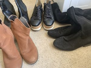 Steve Madden shoes , and tall suede boots gab for Sale in Imperial, CA