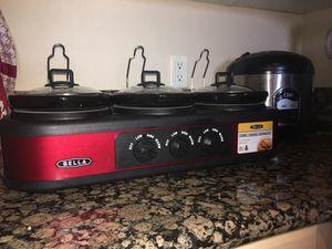 Kitchen appliance / Bella Crock pots 3 in 1 for Sale in Murrieta, CA