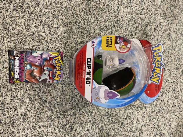 Pokemon Clip 'n' Go BATTLE READY LITWICK DUSK BALL + UNIFIED MIND Booster Pack